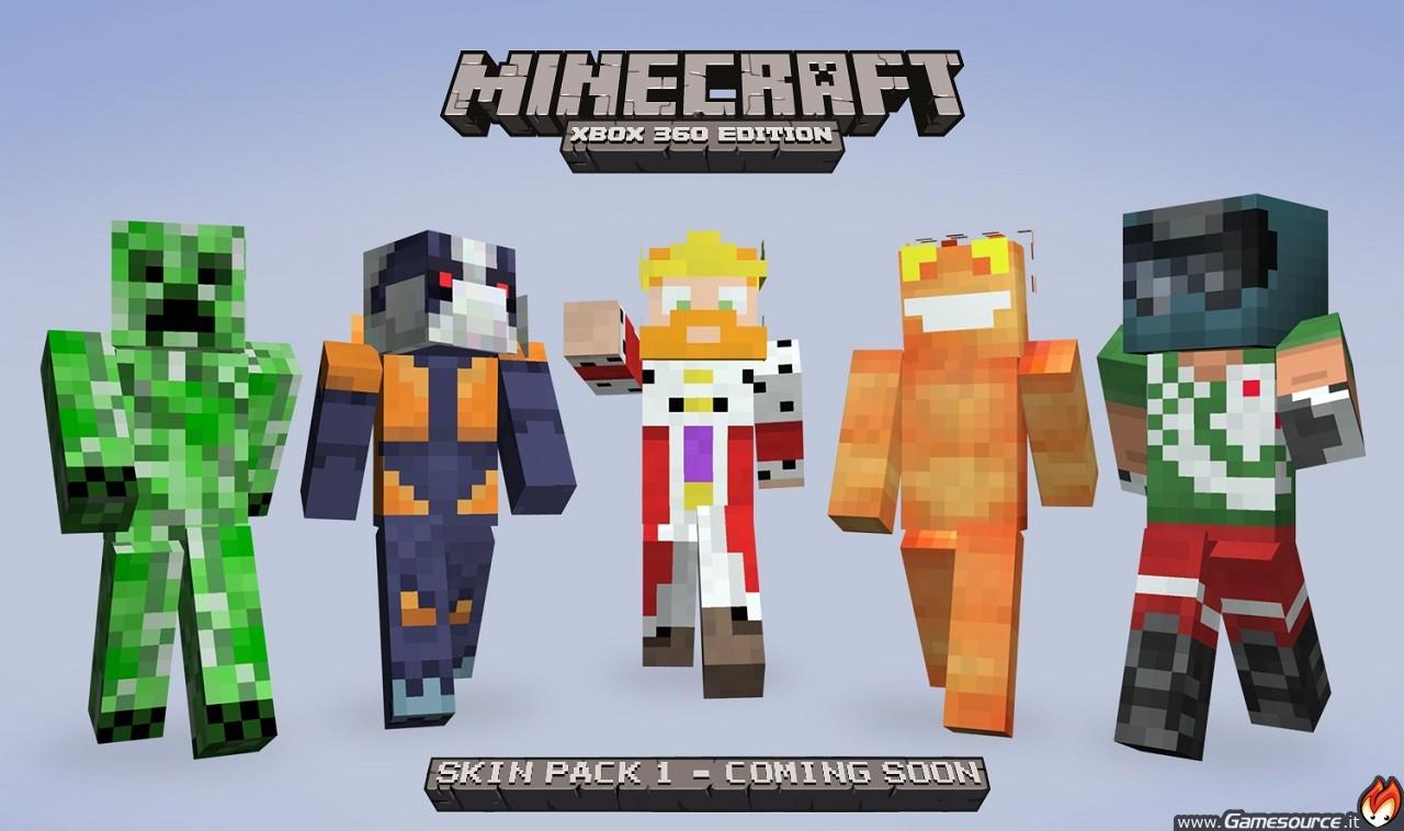 Xbox 360 Minecraft Default Skins In arrivo 40 skins per...