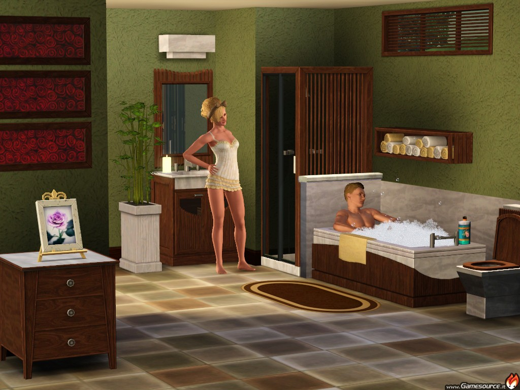 Ea annuncia the sims 3 master suite stuff gamesource for The sims 3 bathroom ideas